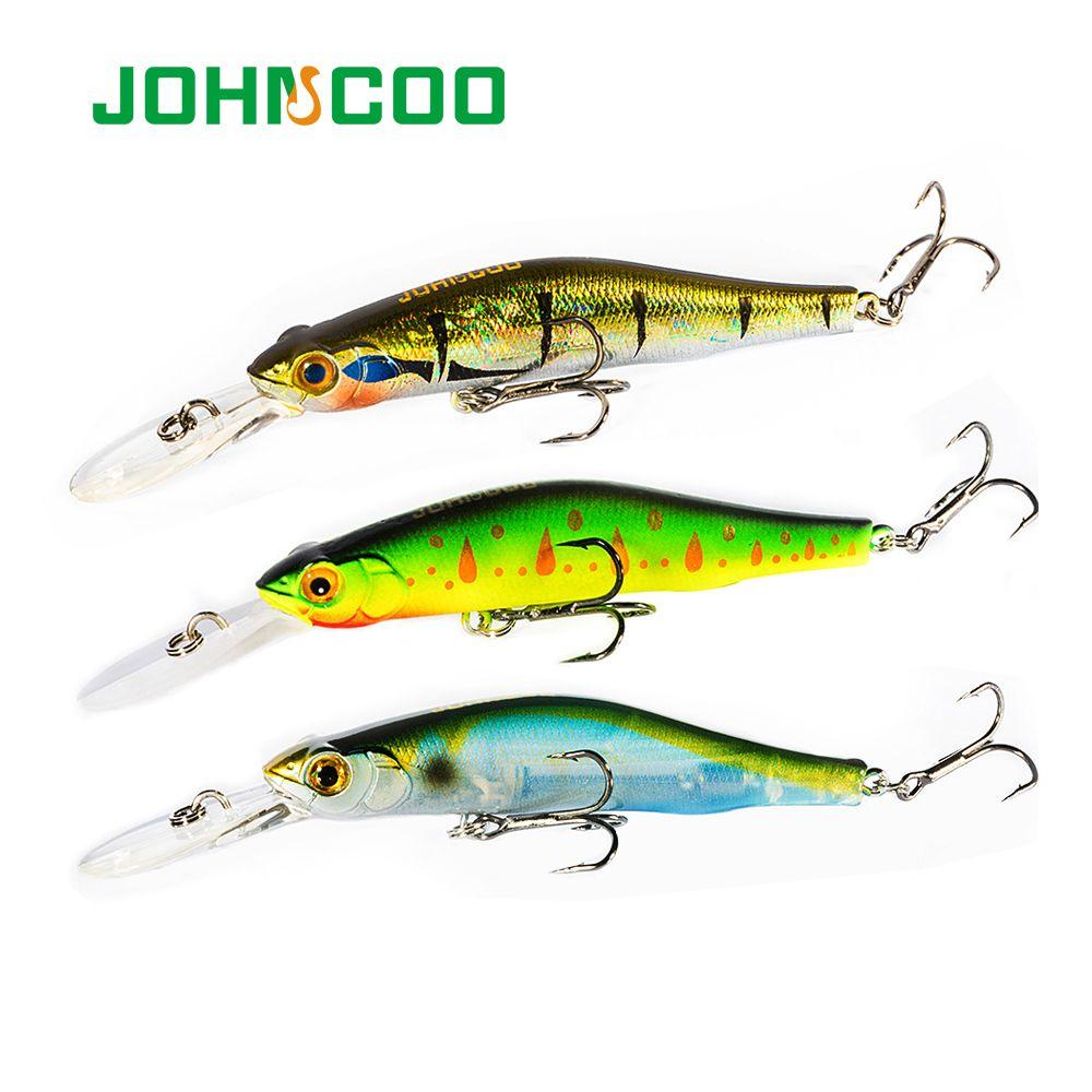 ports & Entertainment JOHNCOO Orbit 80SP-DR Hard Minnow Fishing Lure Hard Bait Wobblers for Deep Dive 80mm 9.5g High Quality Fishing Bait...