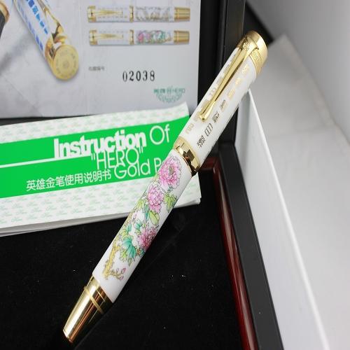 Dolma kalem baskı sınırlı 2188 Şakayık seramik çeşme 14k kalem kalemler