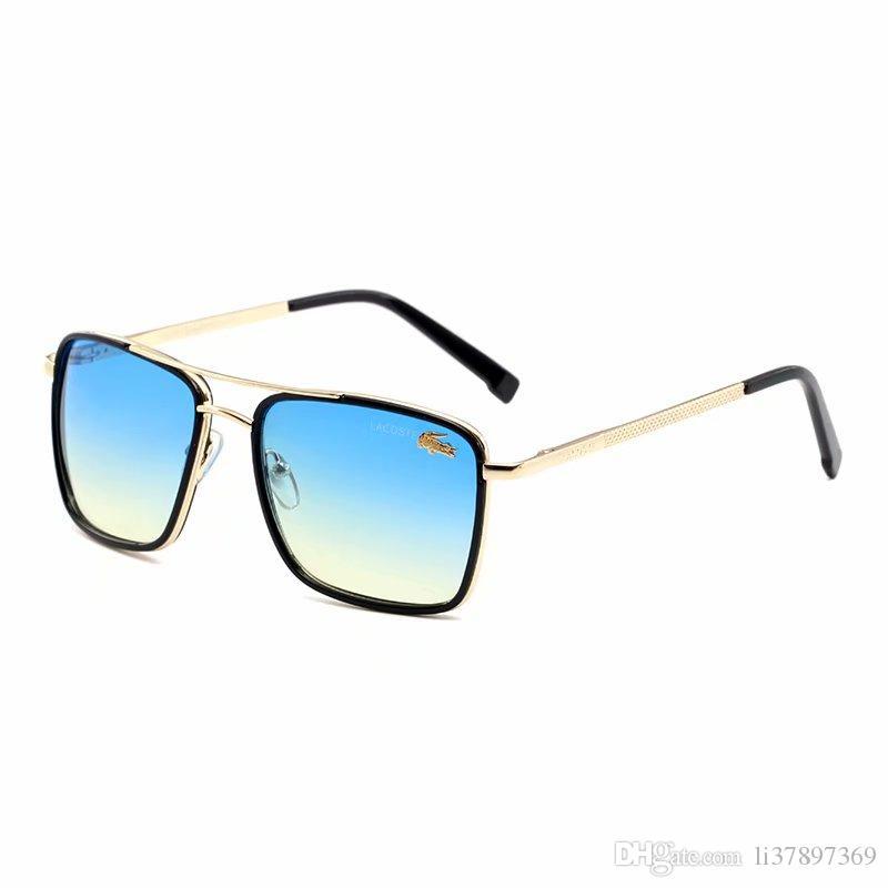 Designer milionário óculos de sol piloto óculos polarizados para as Mulheres Homens espelho moldura de metal condutor Óculos com 4colors caixa de alta qualidade