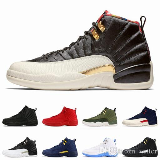 12s CNY Nouvel An Chinois 2019 Winterized WNTR Gym Rouge Michigan Chaussures de Basketball pour Hommes Jumpman 12 Taxi Grippe Gamma Bleu Sports Sneaker