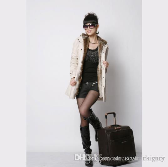 Thick Womens Inverno Deigner Quente Estilo Coats capuz manga comprida Zipper Botão Bolso Feminino Casual Vestuário