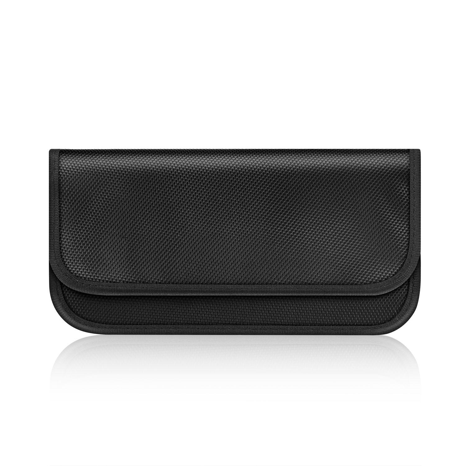 Faraday Bag RFID Signal Blocking Bag Pouch Anti Radiation Wallet Case for Cell Phone Privacy Protection and Car Key FOB