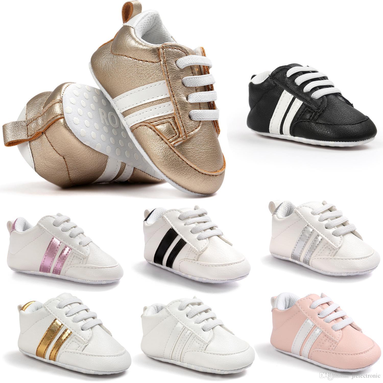 الفتيات الطفل الأخفاف الرضع بو الجلود الأولى مشوا لينة أسفل طفل الوليد الطفل حذاء رياضة حذاء طفل الفتيان الأحذية