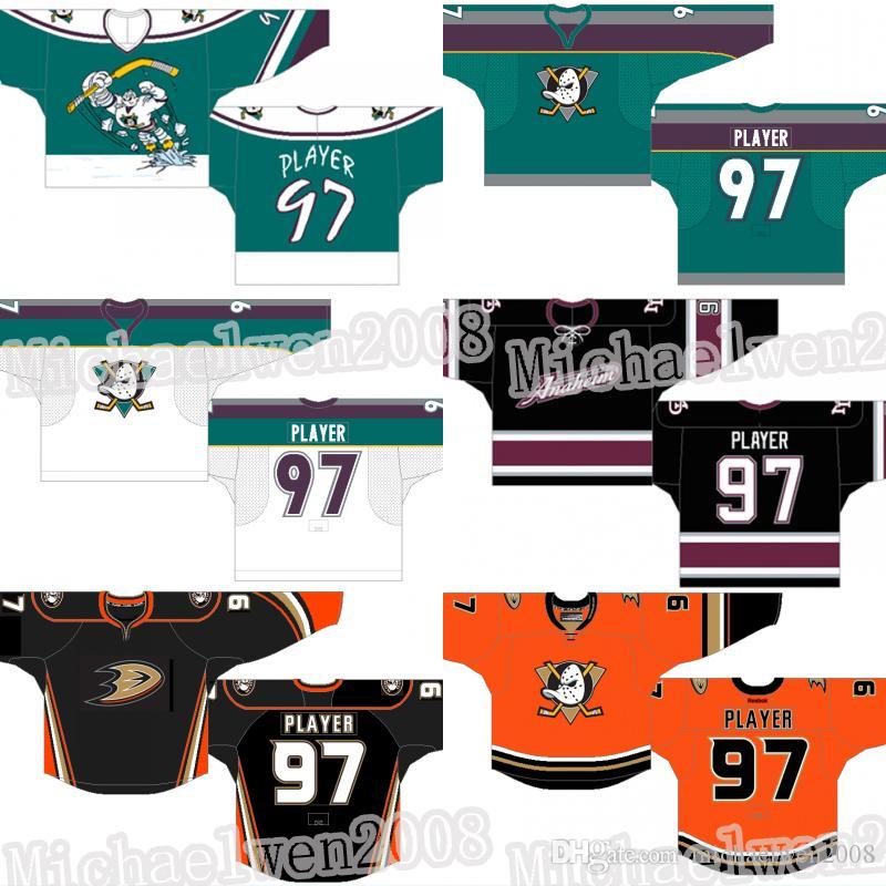 Anaheim Ducks Jersey alternativo retro Ryan Getzlaf Rickard Rakell Jakob Silfverberg Adam Henrique Nick Ritchie Gibson Cam Fowler Selanne