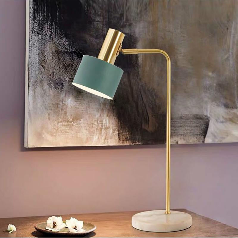 Nordic Marble Base Table Lamp Главная спальня прикроватный Reading стол Light Romantic Hotel Decor Крепеж TA155
