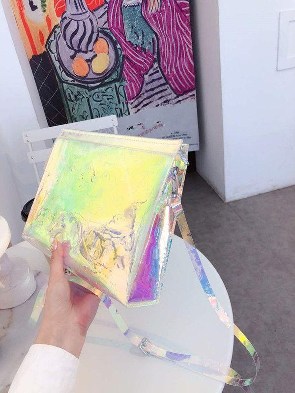 2020 Designer Messenger Transparent Make-up Tracolla Gargle Wash Ricevi la borsa Laser Borsa Borsa impermeabile Borse da borse Impermeabile MS Donna Spalla Hivu