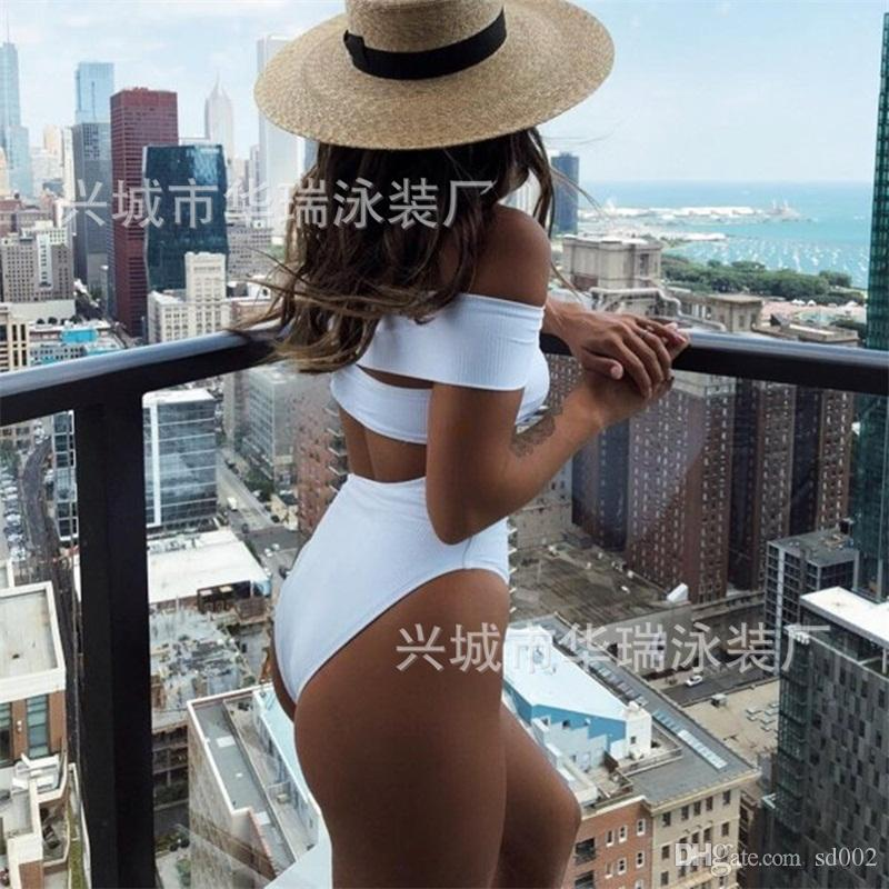 Señora Girl Bikini Traje de baño atractivo elástico de baño mujeres Verano 2020 Sandy Beach popular de la manera 24 horas UU