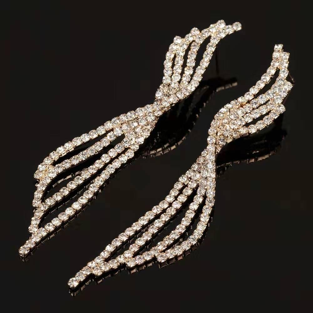 Fashiond крыла серьги для женщин роскоши дизайнер бабочки бриллианты серьги замороженной из свадебной помолвки обед золота серебра ювелирных изделий гса подарок