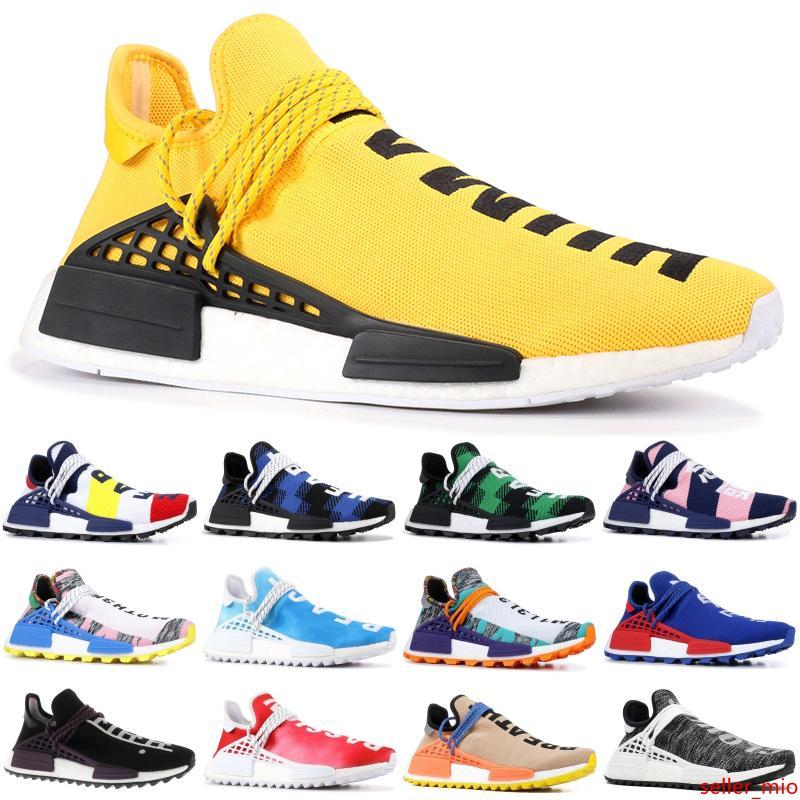 Las mejores carreras para hombre de los zapatos corrientes de NMD Humanos Paquete Solar desnuda pálido Pharrell Williams Pw Hu Holi Naranja BBC escocesa verde de las mujeres zapatos de diseño