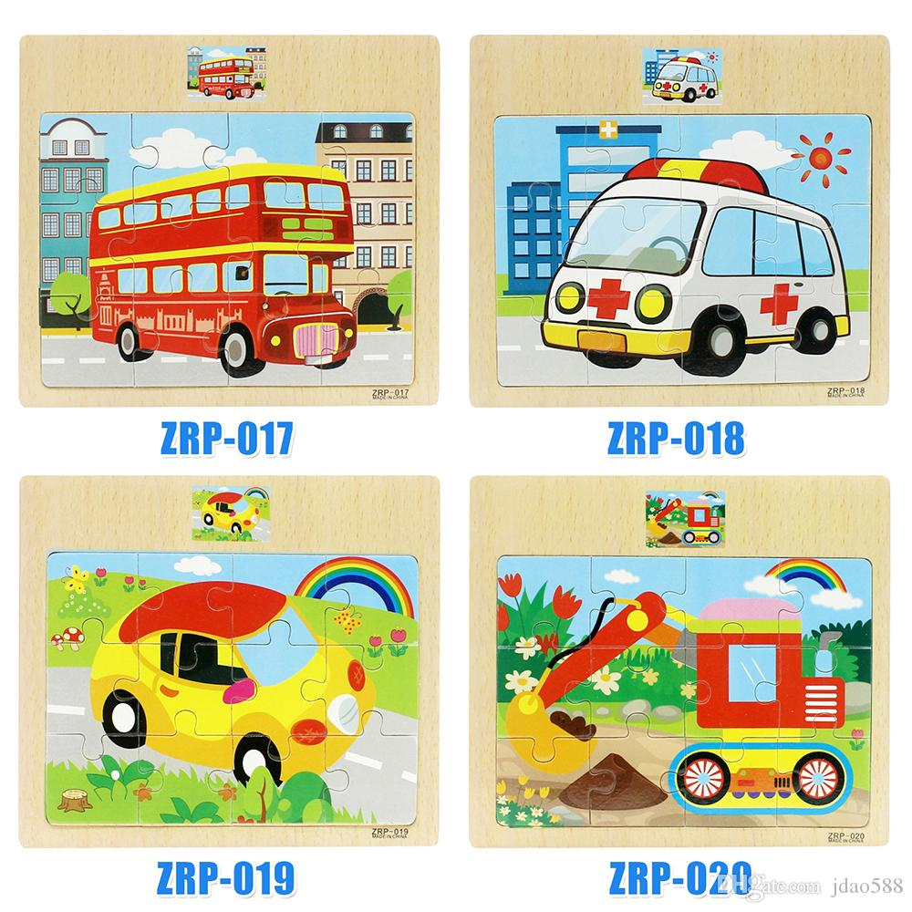 Early Educational Puzzle Montessori Toy Child Wooden Cartoon Learning Toys DSW