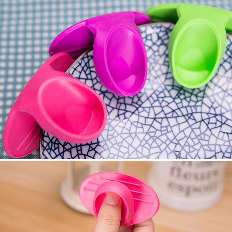 Não Stick Anti-derrapante anti-queimadura clipes Pot Placa Cozinha Silicone calor clipes resistentes Cozinhar Ferramentas Baking Oven Mitts cozinha BH3663 TQQ