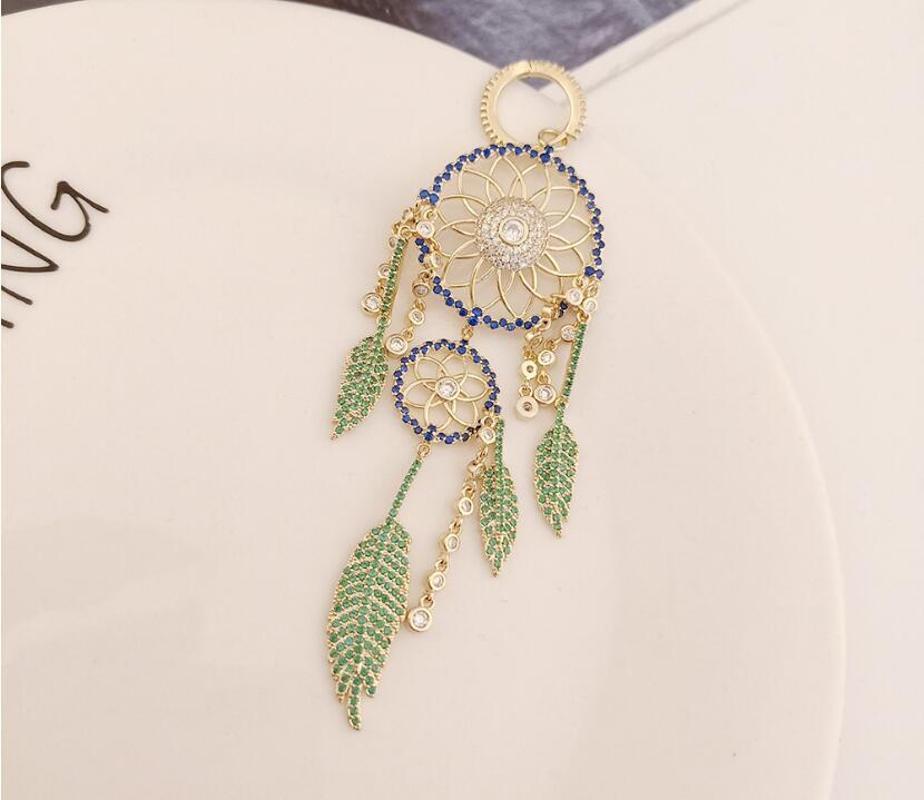 المرأة الرجعية يدوية الصنع حجر الراين والمجوهرات الأذن مزاجه بسيطة حلم الماسك ريشة شرابة الأقراط ورقة