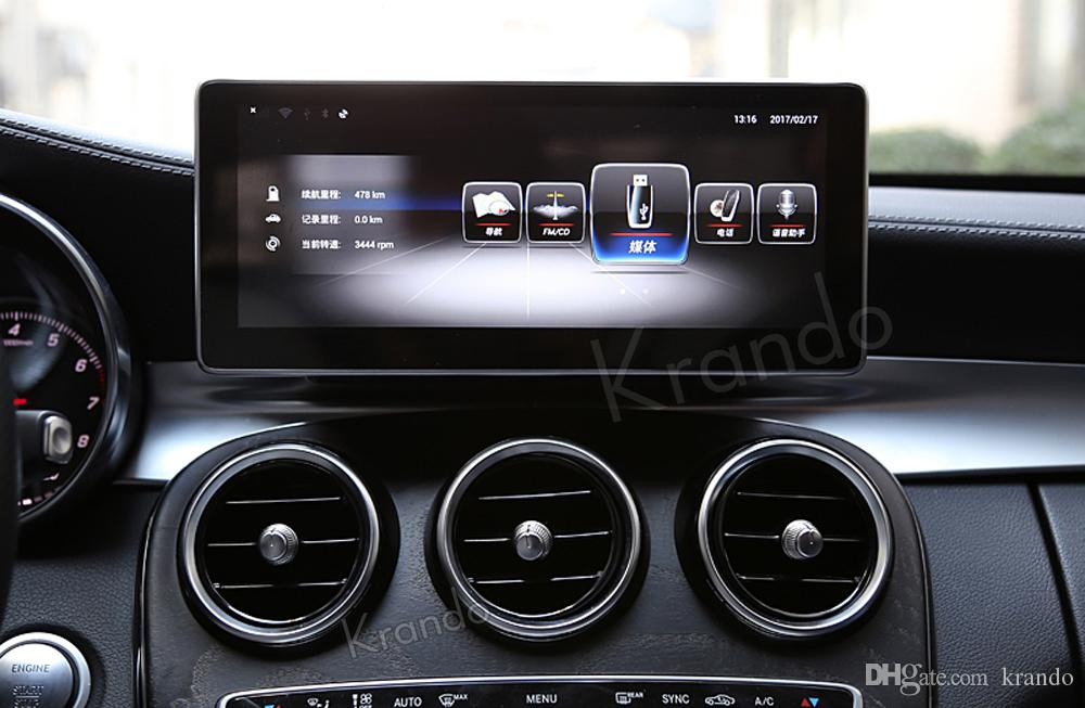 Krando Android 8.1 10.25' car dvd radio navigation for mercedes for benz B C GLC V-Class S205 W205 2014-2018 multimedia player with BT