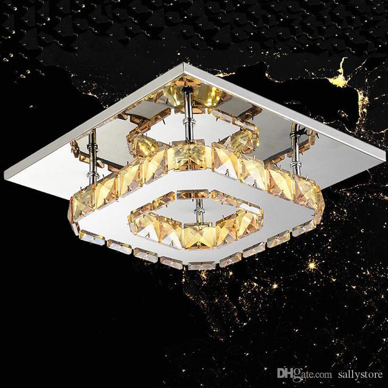 현대 LED 천장 조명 광장 크리스탈 광택 Luminarias 파라 살라 집 통로 복도 발코니 주방기구에 대한 LED 램프