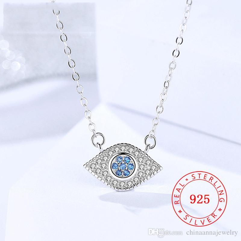 houseofgems Sterling Silver Light Blue Evil Eye Pendant Necklace W//CZ