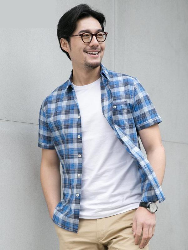 2020 Nouvelle arrivée d'été à manches courtes hommes pur 100% coton pour hommes jeunes Chemises Taille Plaid Plus M L XL 2XL 3XL 4XL 5XL 6XL