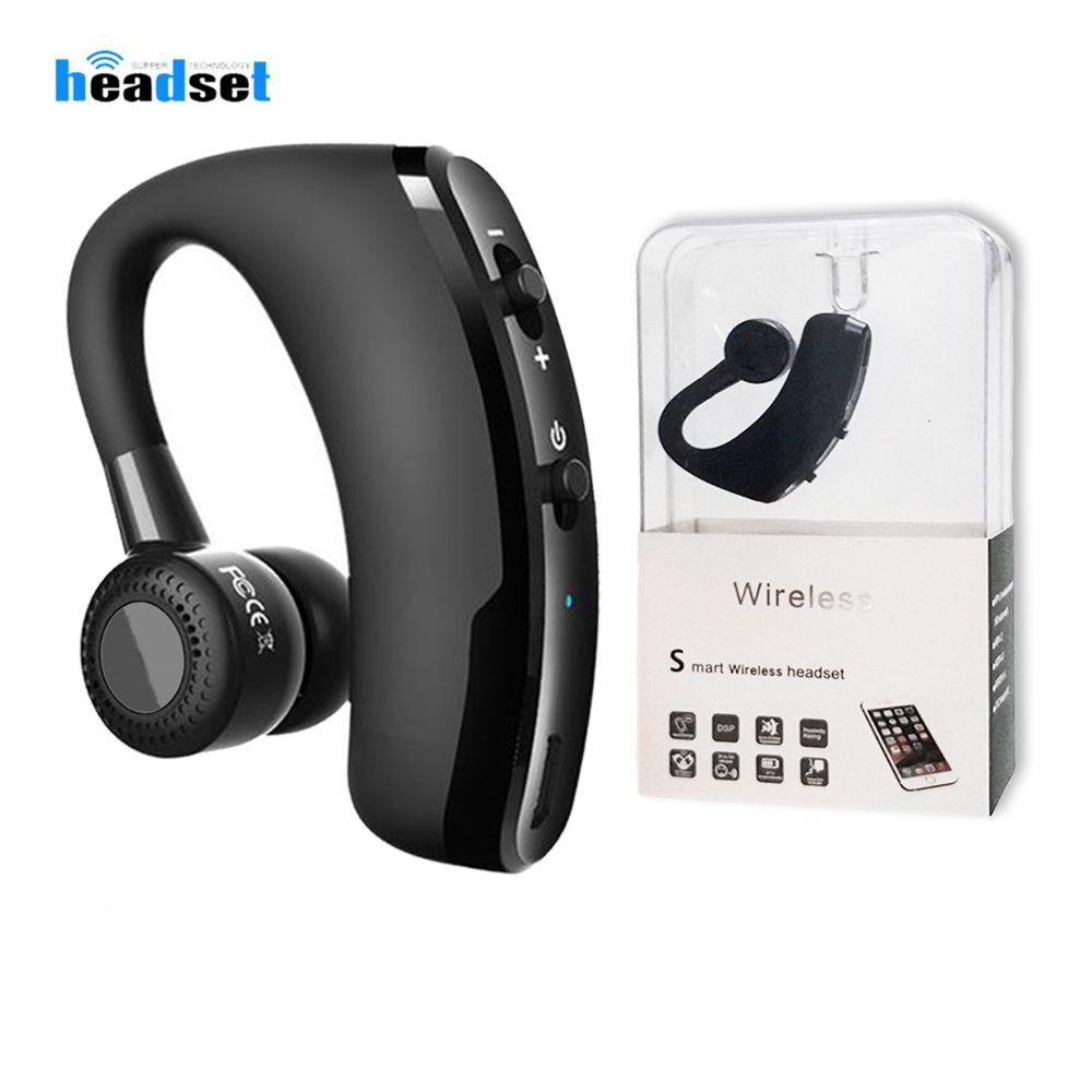 V9 V8 Auriculares Bluetooth Handshree Auriculares inalámbricos CSR V4.1 Control de ruido Earbudos de negocios con micrófono