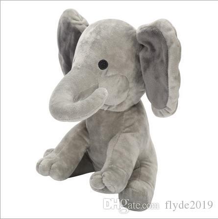 Peluche Éléphant Chien Jouet Poupée Jouer Cache-cache Bébé Éléphant Jouet Oreilles Flaping Move Move Hide Cherche Éléphant Jouet 23cm