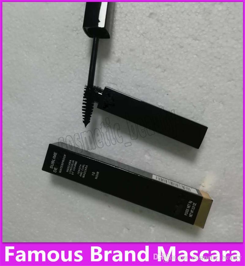 2019 الساخن العلامة التجارية الشهيرة ماسكارا الجملة والتجزئة ماكياج أحدث العلامة التجارية عالية quatliy 6G أسود الماسكارا الشحن المجاني