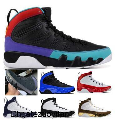 Hommes 9 9S Basketball Chaussures Sneakers Racer Bleu Gym Red Dream Il UNC OG Space Jam Anthracite Statue Reflective homme Paniers Designer Chaussures