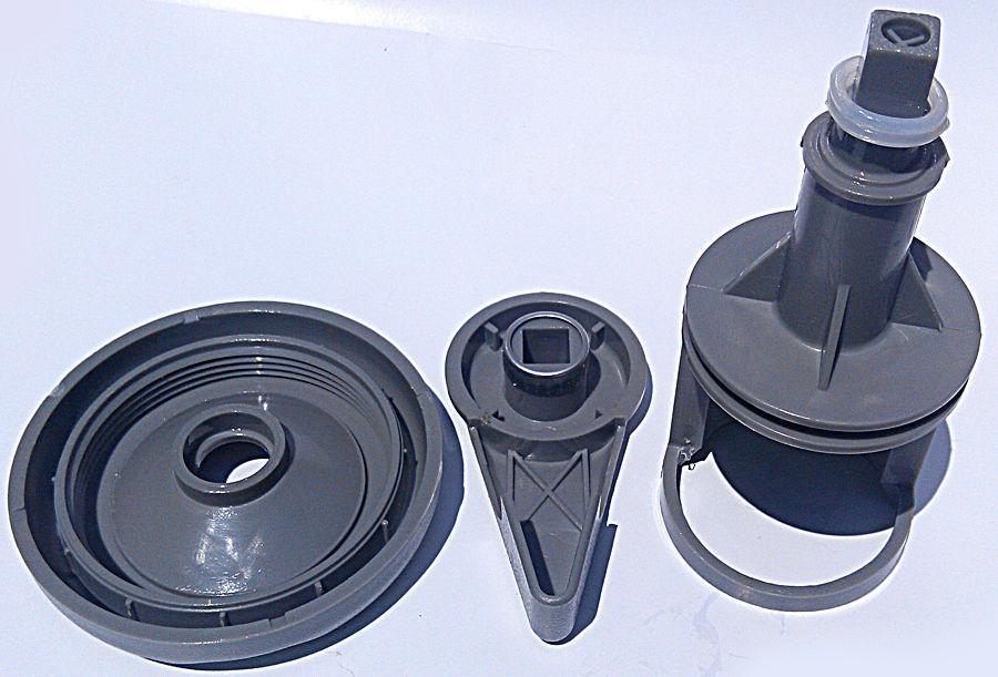 "1-1 / 2"" Spa Whirlpool Umsteller Wasserventil Grau O-Ring Cap Kit verstärkter Tragegriff"