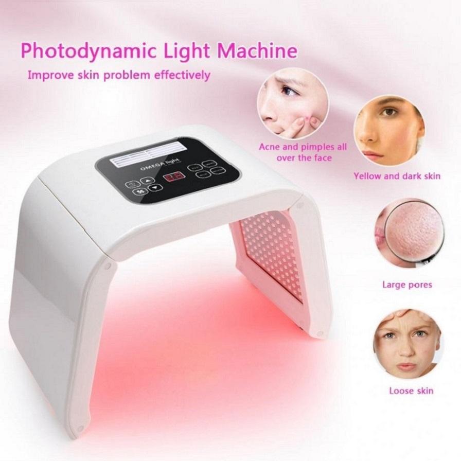 2019 Precio 7 colores de terapia PDT LED para la piel del acné facial peca de eliminación de fotones tratamiento de belleza Máquina