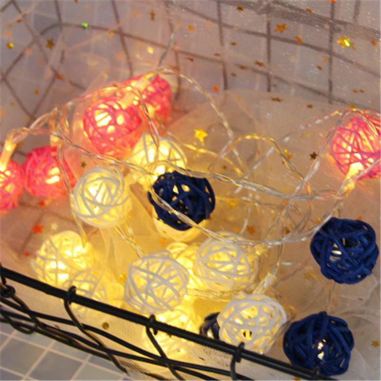 Garland LED Fairy String Lights Battery Operated Xmas Wedding Party Decor Lamp Rattan Balls LED Christmas Light
