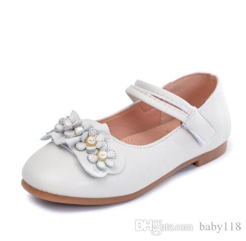 Sığ düz taban tek ayakkabı yönlü Kız bebek prenses omlet ayakkabı bahar ve yaz çocuk deri Kore moda