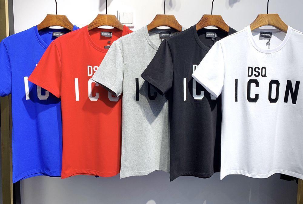 DSQ Phantom Turtle 2020SS New Mens Designer T Shirt Paris Moda Tshirts Verão DSQ Padrão T-shirt Masculino Qualidade superior 100% Algodão Top 6823
