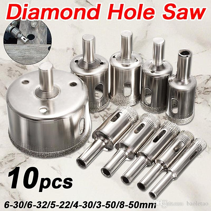 Opener Diamond Coated Hole Saw Set Coupe-verre marbre Forets Outils de Coupe