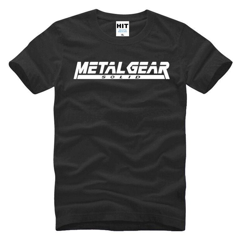 MGS juego Metal Gear Solid impresa letra para hombre camiseta de los hombres Camiseta 2016 Camiseta Nueva algodón de manga corta T Camisetas Masculina Y200104
