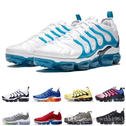 2020 Nueva TN aire para hombre de los zapatos de deporte de los zapatos corrientes Triple Negro Blanco Rojo Mujeres de lujo de zapatos zapatillas de deporte al aire libre transpirable jogging zapatos
