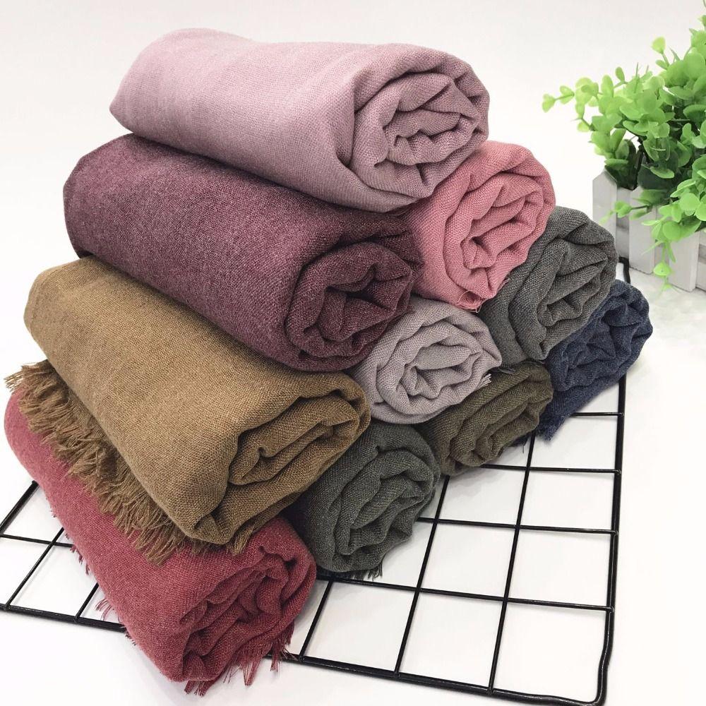 180*90 cm High Quality Linen Cotton Autumn Women's Scarf Vintage Linen Hijab Female Winter Poncho Scarves for Women Shawl Stole