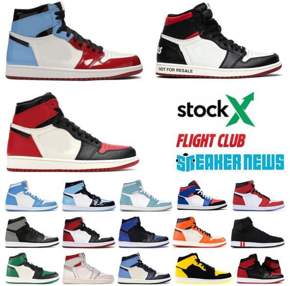 Homens Mulheres Basketball 1 1s Jumpman Shoes Toe Bred Chicago Real Men Designer Sport Shoes Sneakers Trainers com caixa