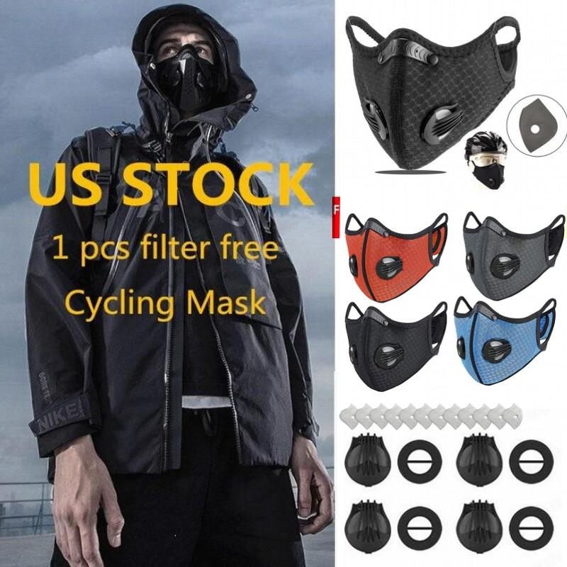 Fast DHL Ship Cycling Face Mask Activated Carbon with 1 Free Filter PM2.5 Anti-Pollution Sport Running Training Bike Protection Dust Mask