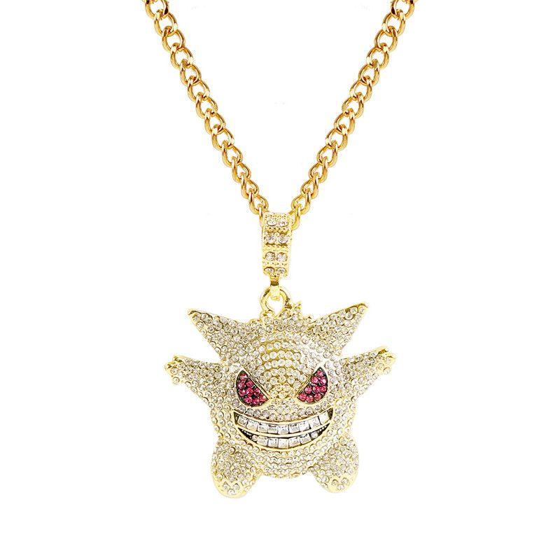 Золото хип-хоп Мужчины Женщины цепи ожерелье ледяной камень CZ кулон ожерелье подвески цепи ювелирные изделия подарки