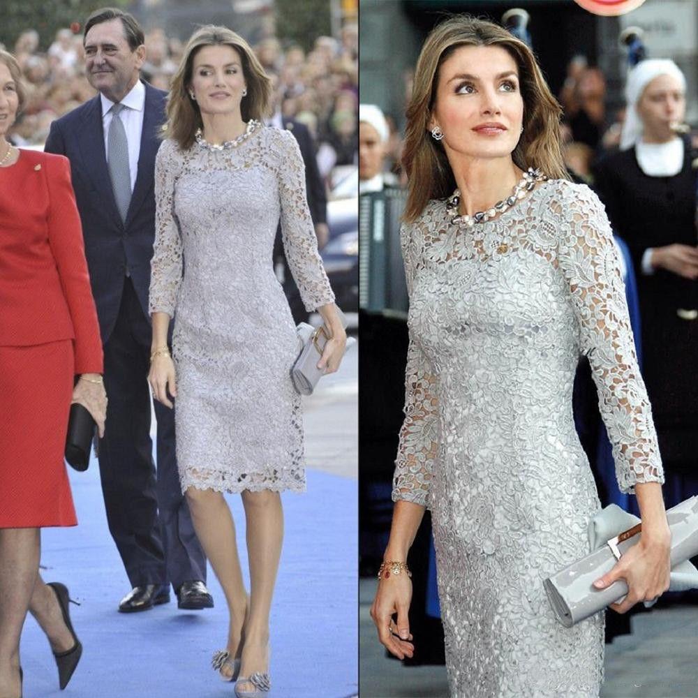 Gelin Elbise Mücevher Uzun Kollu Dantel Zarif Hüsniye Moda Diz Boyu Custom Made Sıcak Satıyoruz Of 2020 Dantel Anne Anneler Elbise
