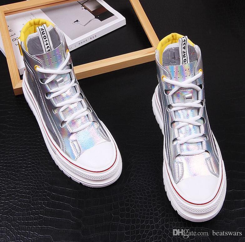 Los nuevos hombres de lujo ocasionales zapatilla de deporte de las mujeres zapatos de diseño de Hihg top calzado zapato para caminar entrenadores deportivos envío