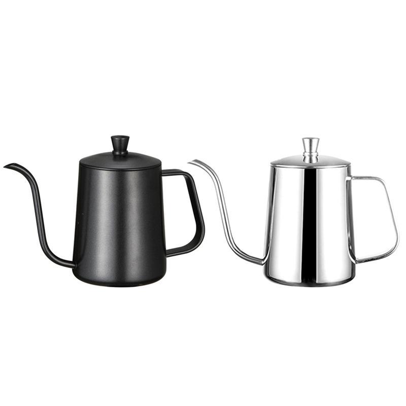 Kapak Damla Deve boynu Musluk Uzun Ağız Kahve Kettle Çaydanlık 6 ile Parantez El Punch Pot Kahve Pots Montaj 2pcs Paslanmaz Çelik