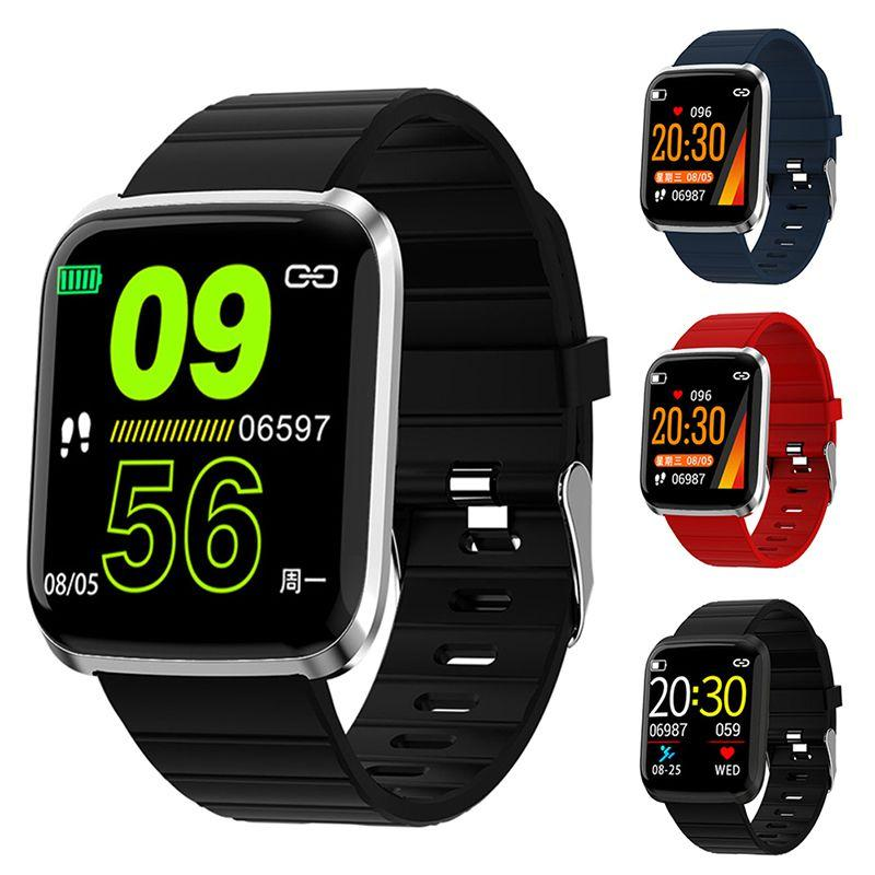 Смарт-браслет 116Pro цветной экран Bluetooth Смарт Часы Спорт браслет Фитнес Tracker Heart Rate Monitor Спорт браслет для Android Ios