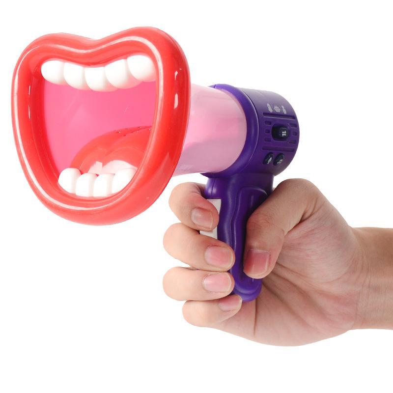Engraçado Brinquedos Bigmouth Paródias Altifalantes Toy presente das crianças engraçadas Handheld variável Voz gravável Altifalante Gravação Brinquedos infantis
