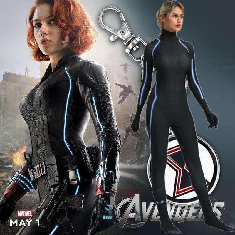 The Avengers Endgame Captain Marvel Black Widow Costume Cosplay 3d Original Movie Woman Superhero Costume Zentai Suit Halloween Clown Costumes Nun Costume From Hosiyoubi 41 63 Dhgate Com