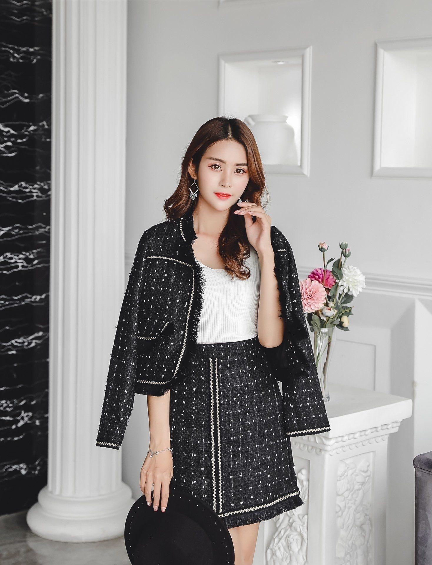 falda de la chaqueta de los vestidos de la colmena de la oficina nueva del envío del nuevo estilo