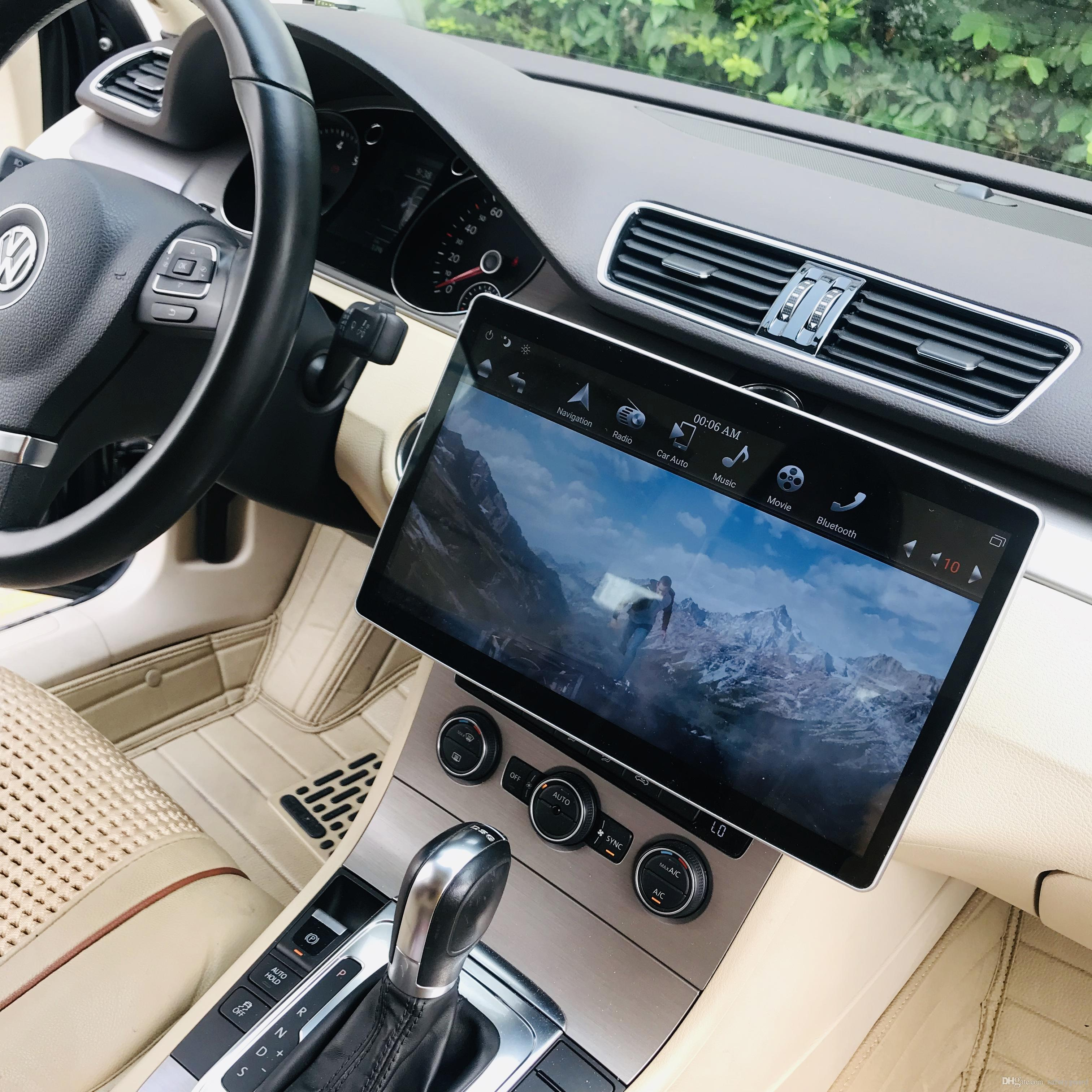 "IPS Rotatable 2 din 12.8"" 6-Core PX6 Android 8.1 Universal Car dvd Player Radio GPS Bluetooth WIFI Easy Connect IPS Rotatable Screen"