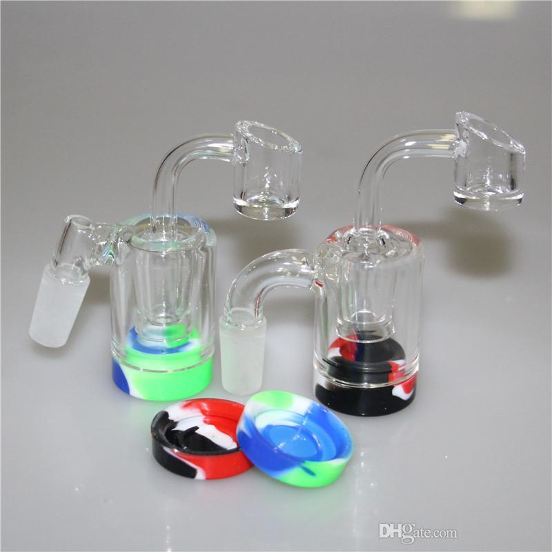 handmake vidro Reclaim Catcher com 14 milímetros joint Quartz Banger prego para o transporte livre dab vidro rig bong