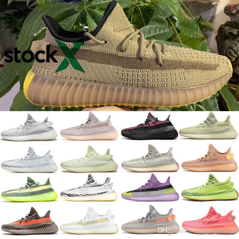 Kanye West Lundmark Antlia Clay Hyperspace True Form Black 3M Reflective GID Glow Beluga 2.0 Outdoor Shoes 36-48