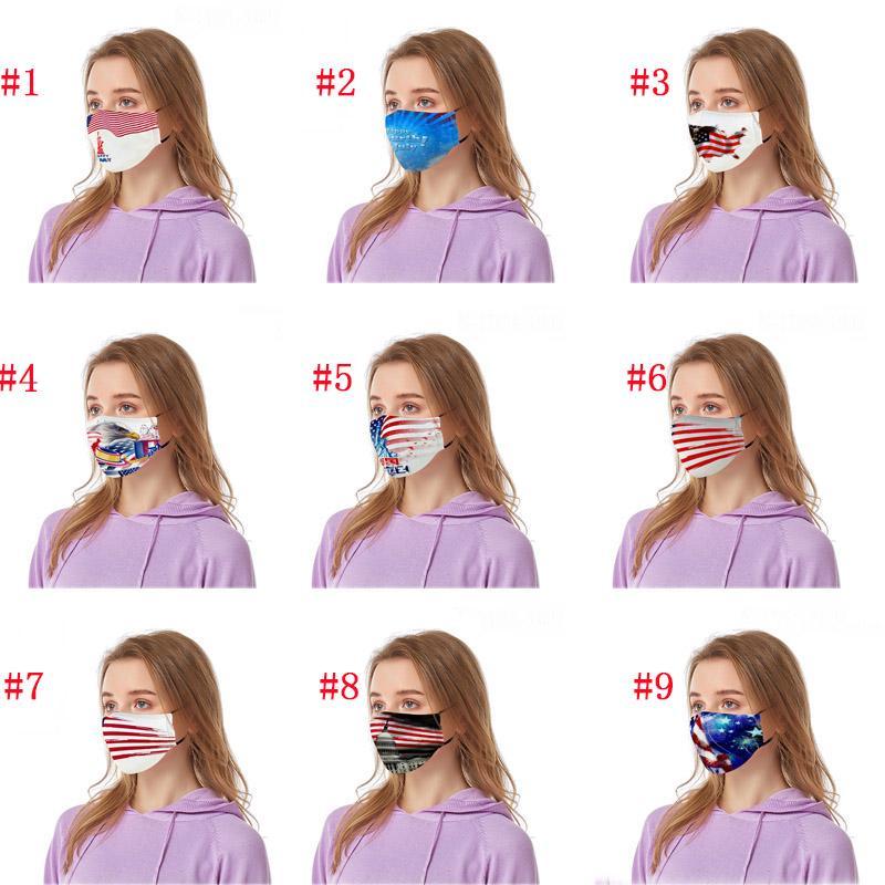 Trump Maschera Due Dimensioni tessuto di cotone Maschera Maschera per adulti e bambini all'aria aperta veloce di spedizione