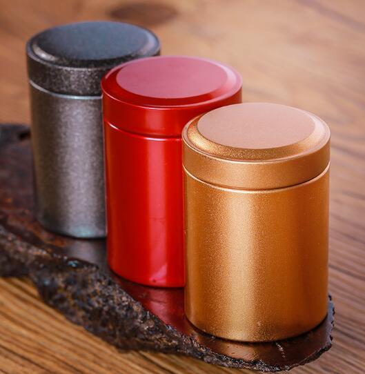 DHL Kalay Yuvarlak Pot Çay Paketleme Tüp Metal Çay Depolama Şişe 4.5 * 6.5cm Çay Kahve Kuru meyve Çerezler Mini taşınabilir Organizatör ny Jar