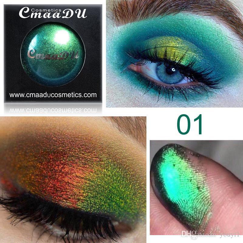 CmaaDu 4 brillo de los colores de las mujeres encantadoras atractivas de sombra de ojos en polvo Labios diamante suelto Ojos Relucientes altamente pigmento Cosméticos metálicos