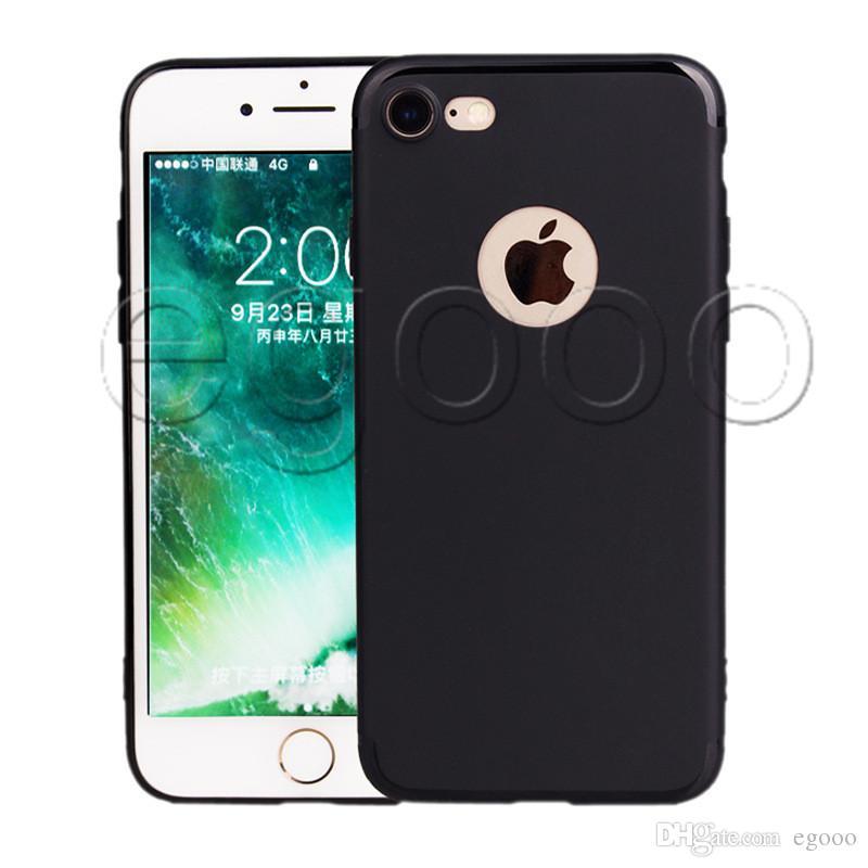 Soft Slim Silikon-Kasten für iPhone 11 Pro Max XR XS MAX 8 7 6 6S Plus-Abdeckung TPU Matttelefon-Kasten Shell mit Staubkappe
